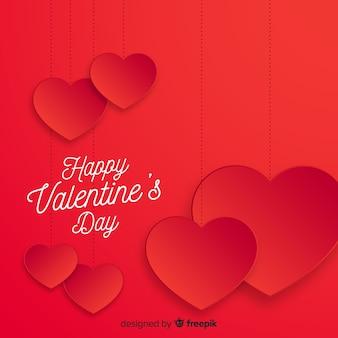 Coeurs, fond, saint valentin