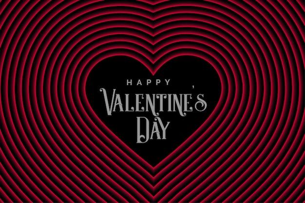 Coeurs de ligne de style rétro pour la saint valentin
