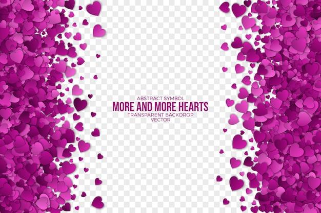 Coeurs de papier 3d cadre abstrait