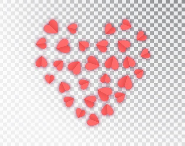 Coeurs de papier isolés