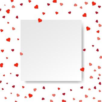 Coeurs et papier vierge