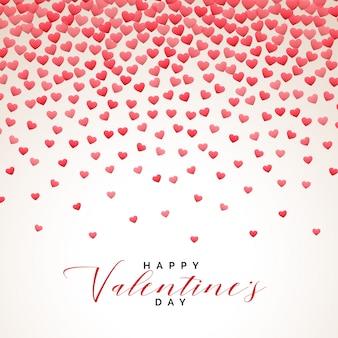 Coeurs pluie fond saint valentin