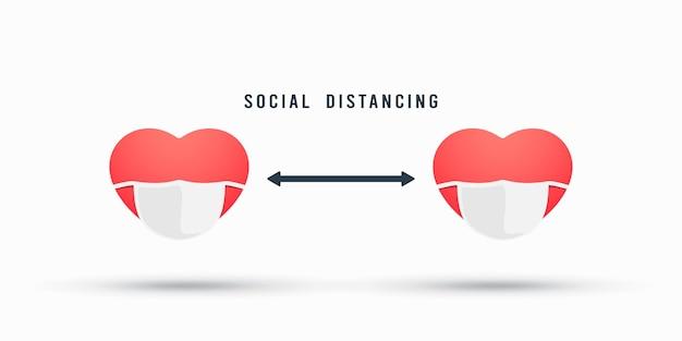 Des coeurs pour la distanciation sociale