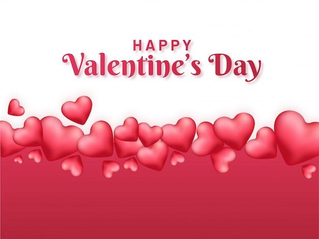 Coeurs réaliste brillant fond décoré pour la saint valentin