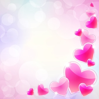 Coeurs roses