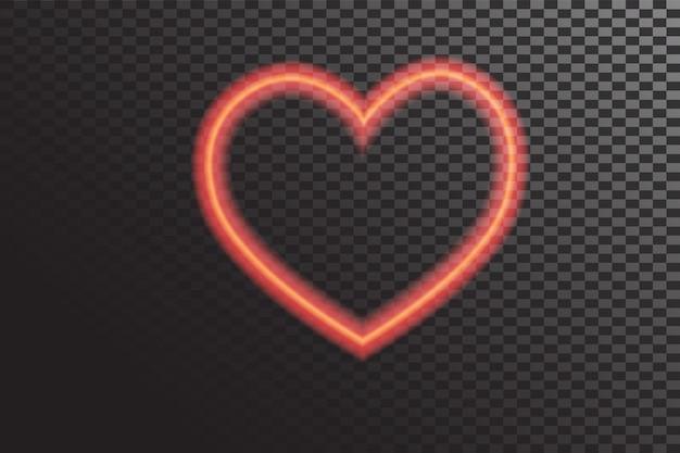 Coeurs rougeoyants de vecteur