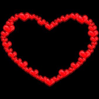 Coeurs rouges abstraits. illustration vectorielle.