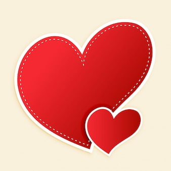 Coeurs rouges mignons avec espace de texte