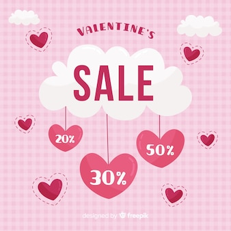 Coeurs suspendus fond de vente valentine