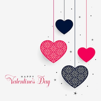 Coeurs suspendus de la saint-valentin