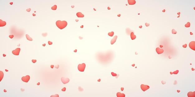 Coeurs tombant pour la conception de la décoration de la saint-valentin