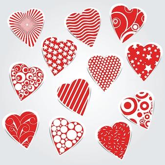 Coeurs de vecteur pour la conception de mariage et de la saint-valentin