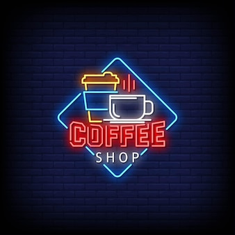 Coffee shop logo enseignes au néon