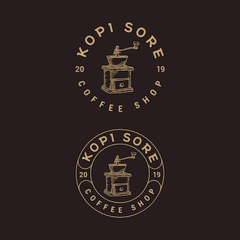Coffee shop vintage création de logo