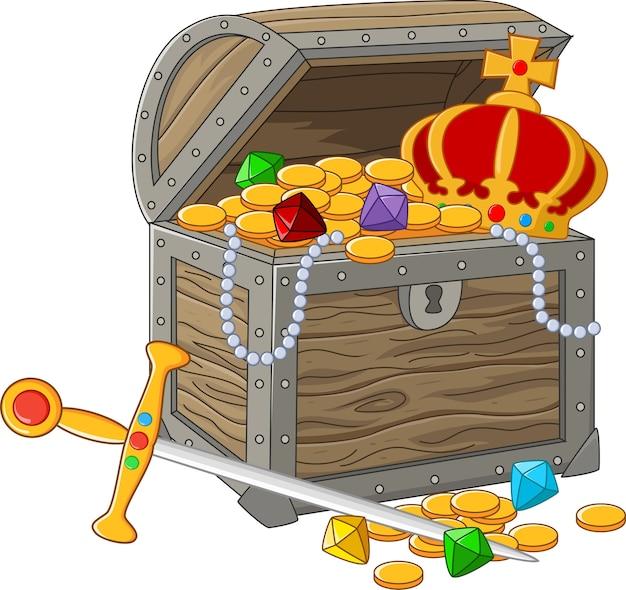 Coffre au trésor ouvert