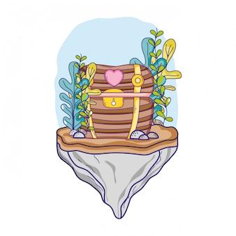 Coffre au trésor sous-marin