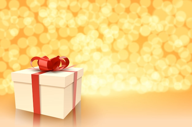 Coffret cadeau, bonne année ou joyeux anniversaire