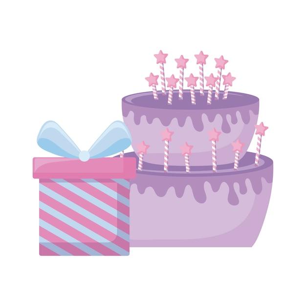 Coffret cadeau avec un délicieux gâteau