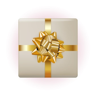 Coffret cadeau avec noeud et ruban.