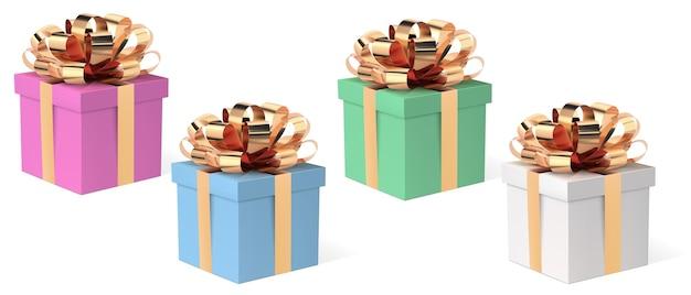 Coffret cadeau avec ruban