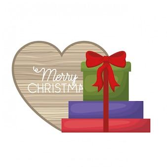 Coffrets cadeaux avec coeur de bois