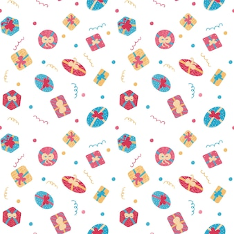 Coffrets cadeaux transparente motif isolé illustration vectorielle fond de vacances