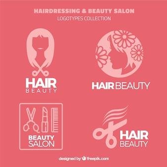 Coiffure et d'esthétique logos de salon