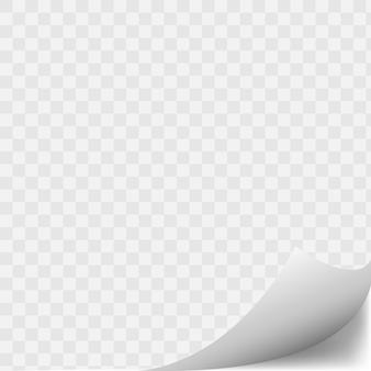 Coin de page courbé