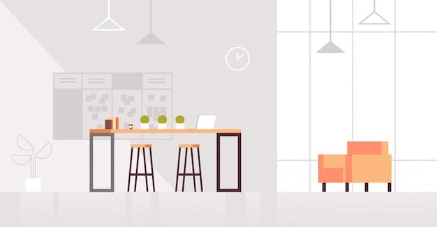 Coin salon créatif intérieur de bureau moderne centre de coworking contemporain