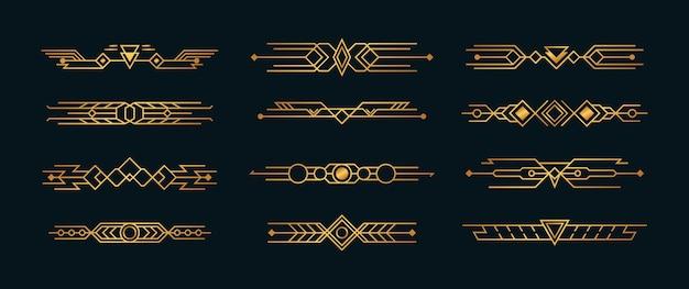Coins artdeco pour bordures et cadres
