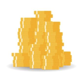 Coins empilés avec fonds commun de placement, augmentation du revenu