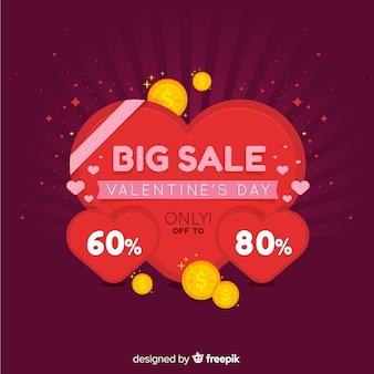 Coins valentine's sale background