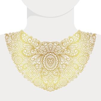 Col doré décoratif à la mode