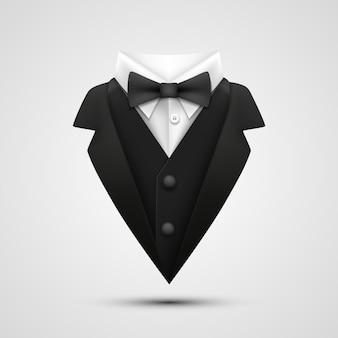 Le col de la veste sur fond blanc. illustration vectorielle