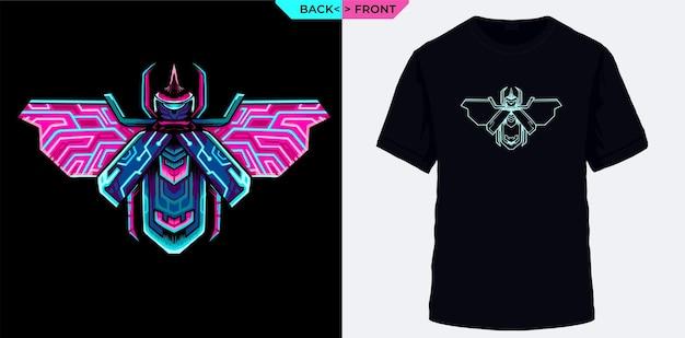 Le coléoptère électrique convient à la sérigraphie de t-shirts