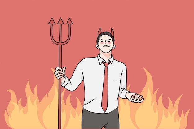 Colère et rage dans le concept d'entreprise