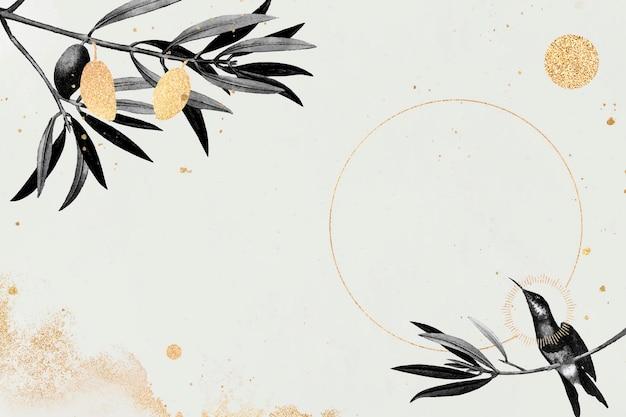 Colibri sur fond beige
