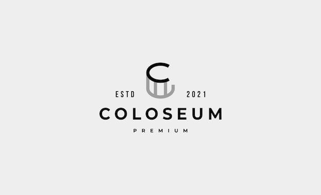 Colisée simple logo vector design icône illustration