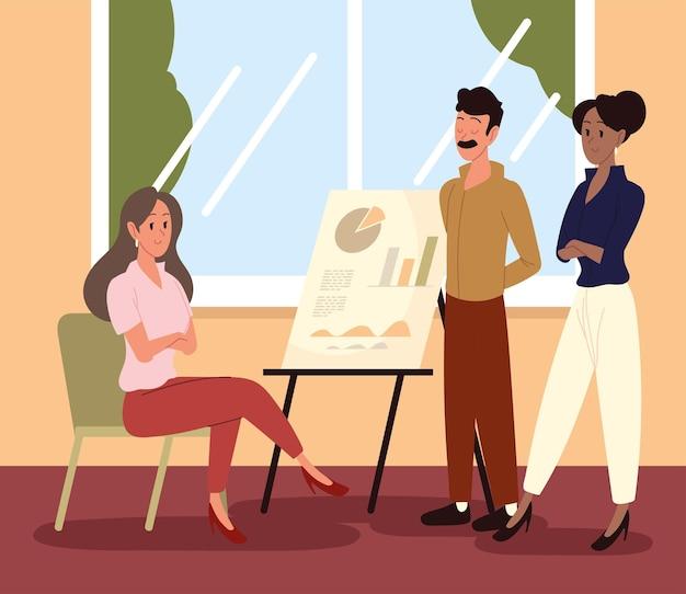 Collaborateurs de réunion d'affaires