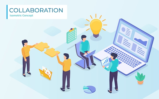 Collaboration de travail d'équipe d'affaires exécutives, illustration