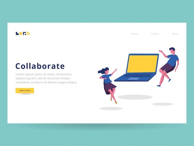 Collaborer illustration pour la page de destination