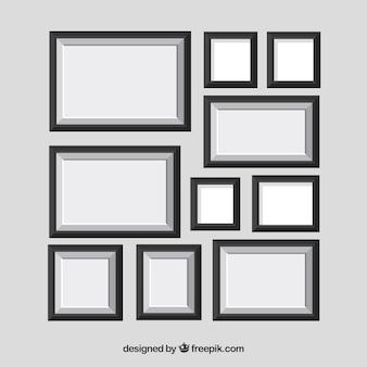 Collage de cadre photo avec un design plat