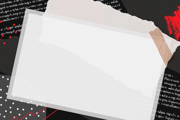 Collage de cadre photo instantané vierge