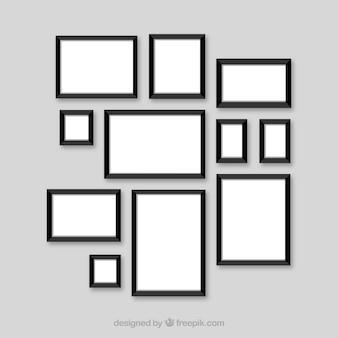 Collage de cadre photo plat
