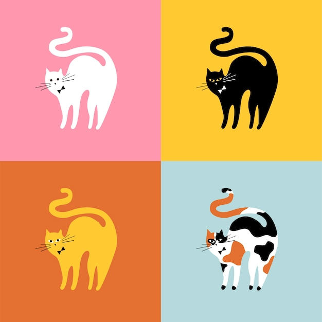 Collage de différentes races de chats