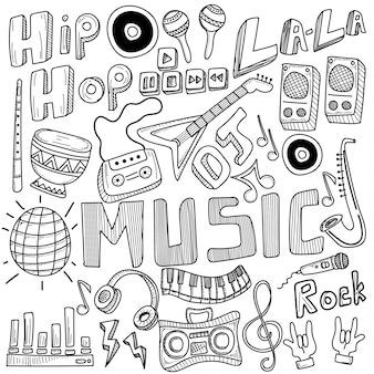 Collage avec des instruments de musique