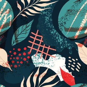 Collage modèle sans couture de forme abstraite contemporaine