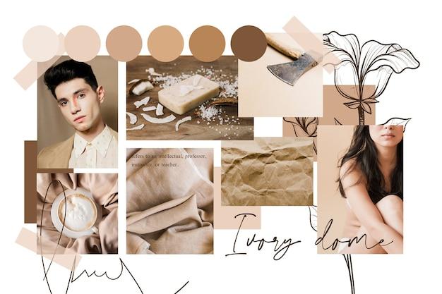 Collage de moodboard artistique avec des photos