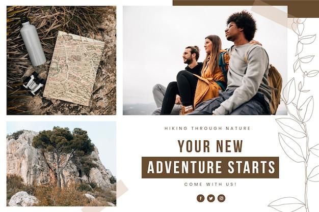 Collage de photos de voyage