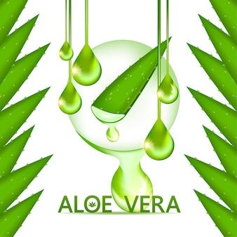 Collagène et sérum d'aloe vera pour les cosmétiques de soins de la peau